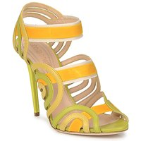 Shoes Women Sandals Roberto Cavalli RPS691 Green / Yellow