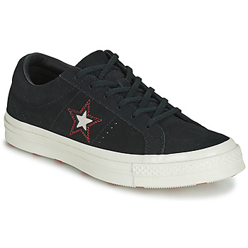 Shoes Women Low top trainers Converse ONE STAR LOVE IN THE DETAILS SUEDE OX Black