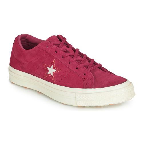 Shoes Women Low top trainers Converse ONE STAR LOVE IN THE DETAILS SUEDE OX  Fuschia 01c3700a6