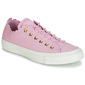 Shoes Women Low top trainers Converse CHUCK TAYLOR ALL STAR FRILLY THRILLS SUEDE OX Pink
