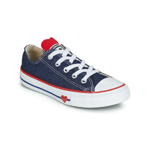 104faf8eb9ce Shoes Girl Low top trainers Converse CHUCK TAYLOR ALL STAR SUCKER FOR LOVE  DENIM OX Blue