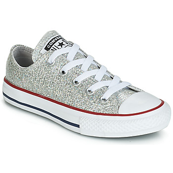 Shoes Girl Low top trainers Converse CHUCK TAYLOR ALL STAR SPARKLE SYNTHETIC OX Grey