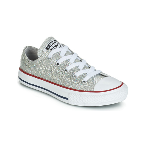 9dae01da9c1 Shoes Girl Low top trainers Converse CHUCK TAYLOR ALL STAR SPARKLE  SYNTHETIC OX Grey
