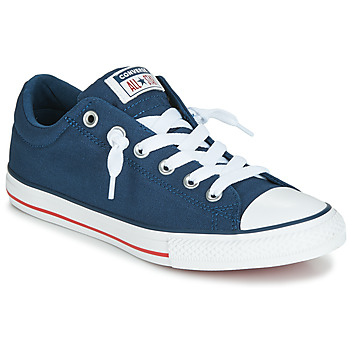 Shoes Children Low top trainers Converse CHUCK TAYLOR ALL STAR STREET CANVAS OX Blue