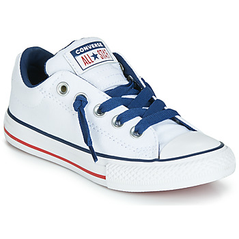 Shoes Children Low top trainers Converse CHUCK TAYLOR ALL STAR STREET CANVAS OX White
