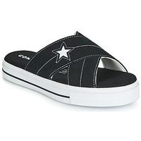 Shoes Women Mules Converse ONE STAR SANDAL SANDALISM SLIP Black