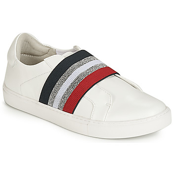 Shoes Women Slip ons Elue par nous ESSORE White