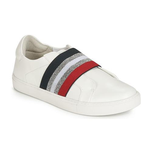 Shoes Women Slip ons Elue par nous ESSORE White
