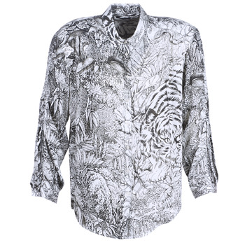 material Women Shirts Ikks BN12085-11 White / Black