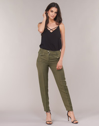 material Women 5-pocket trousers Ikks BN22125-56 Kaki