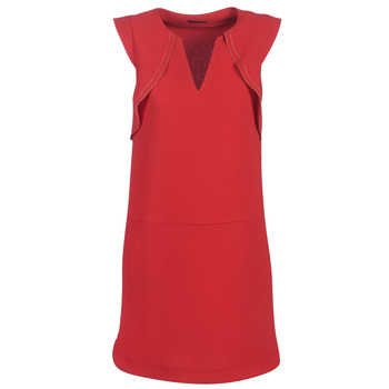 material Women Short Dresses Ikks BN31075-36 Red
