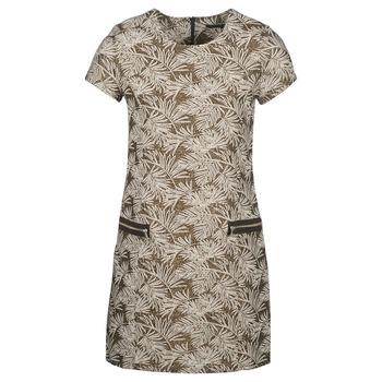 material Women Long Dresses Ikks BN30165-65 Kaki / Beige