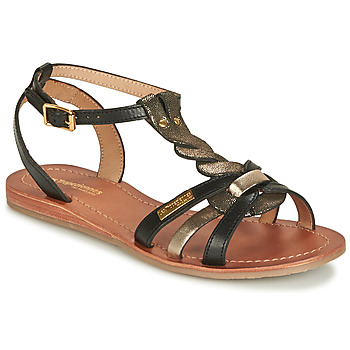Shoes Women Sandals Les Tropéziennes par M Belarbi HAMS Black / Gold