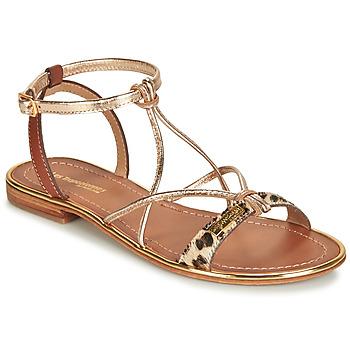 Shoes Women Sandals Les Tropéziennes par M Belarbi HIRONDEL Leopard / Gold