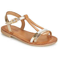 Shoes Girl Sandals Les Tropéziennes par M Belarbi BADA Gold / White