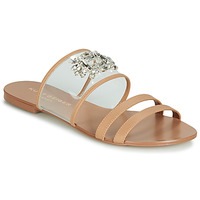 Shoes Women Mules KG by Kurt Geiger PIA VINYL SANDAL Camel
