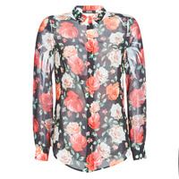 material Women Shirts Guess CLOUIS Black / Multicolour