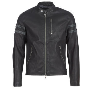 material Men Leather jackets / Imitation leather Guess COOL BIKER Black