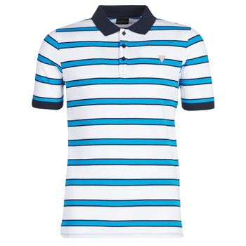 material Men short-sleeved polo shirts Guess RAY White / Blue