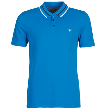 material Men short-sleeved polo shirts Guess CLAUD Blue