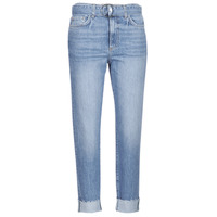 material Women cropped trousers Guess THE IT GIRL SKINNY BELT Blue / Clear