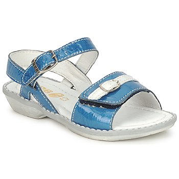 Shoes Girl Sandals GBB CARAIBES FIZZ Blue / White