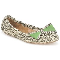 Shoes Women Ballerinas Maloles BLANCHE Black / White / Green