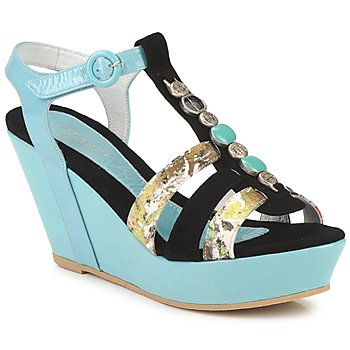Shoes Women Sandals Regard RAFAVO Black / Blue