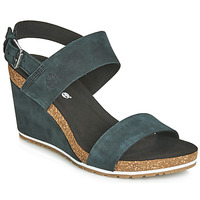 Shoes Women Sandals Timberland CAPRI SUNSET WEDGE Black