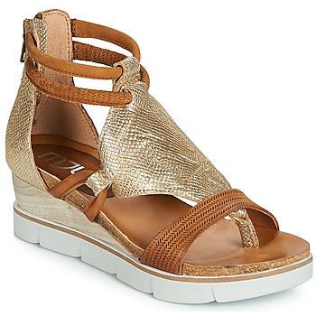 Shoes Women Sandals Mjus TAPASITA Gold / Camel