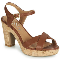 Shoes Women Sandals Betty London JIKOTIK Camel