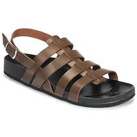 Shoes Men Sandals Dream in Green JAKALBERT Brown
