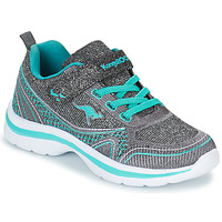 Shoes Girl Low top trainers Kangaroos KANGAGIRL EV II Silver / Turquoise