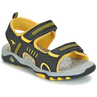 Shoes Children Sandals Kangaroos K-LOGAN Black / Yellow