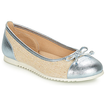 Shoes Girl Ballerinas André RIVAGE Blue / Beige
