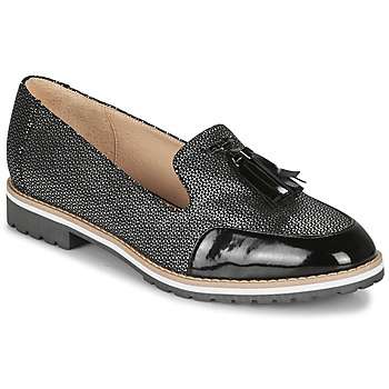 Shoes Women Loafers André EMOTION Silver / Black