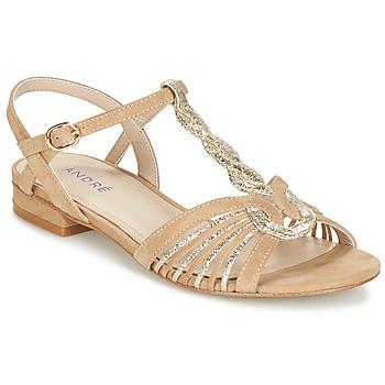 Shoes Women Sandals André CALLISTO Beige / Gold