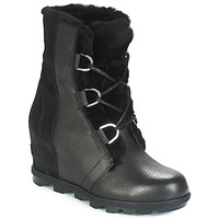 Shoes Women Snow boots Sorel JOAN OF ARCTIC WEDGE II LUX Black