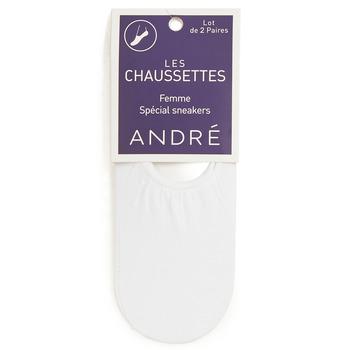 Accessorie Women Socks André FOOTIES White