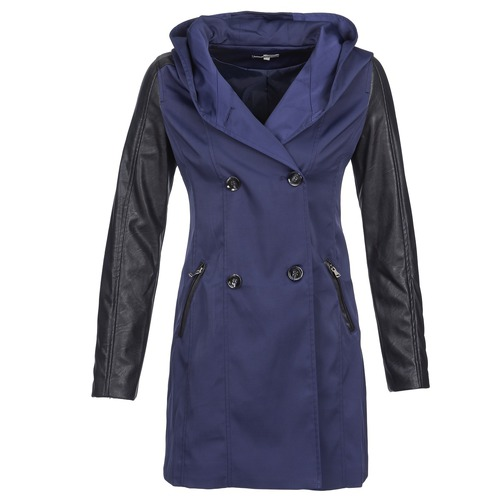 material Women Trench coats Betty London CAMILLE MARINE