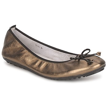 Shoes Women Ballerinas Mac Douglas ELIANE BRONZE / Black / PATENT