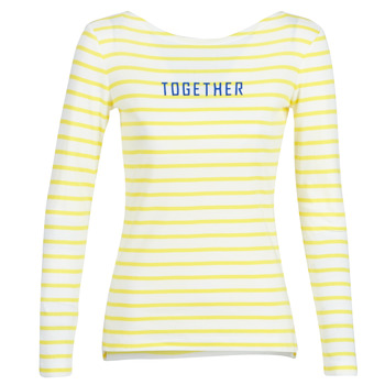 material Women Long sleeved shirts Marc O'Polo CARACOLI White / Yellow