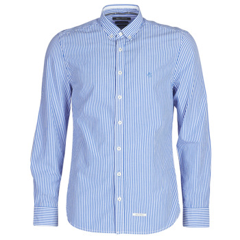 material Men long-sleeved shirts Marc O'Polo CARACOLIA White / Blue