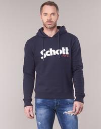 material Men sweaters Schott HOOD Marine