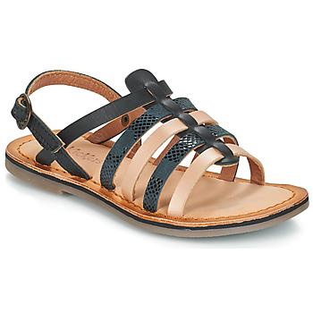 Shoes Girl Sandals Kickers DIXON Black / Serpent