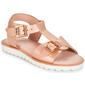 Shoes Girl Sandals Kickers ISABELA Pink / Metal