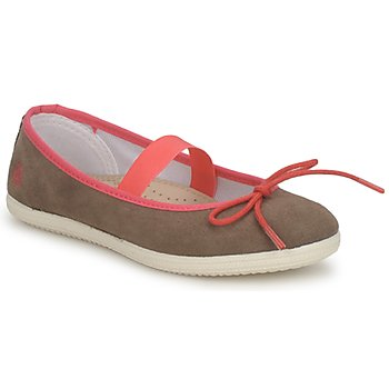 Shoes Girl Ballerinas Petit Bateau KITY KID Kaki