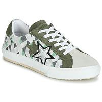 Shoes Women Low top trainers Mustang 2874302-277 Kaki / White