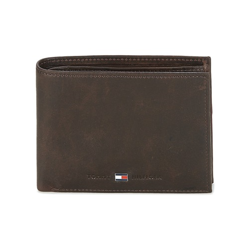 Bags Men Wallets Tommy Hilfiger JOHNSON CC AND COIN POCKET Brown