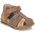Shoes Boy Sandals Citrouille et Compagnie FRINOUI Brown / Multicoloured
